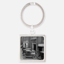 Ford Sales and Service Square Keychain
