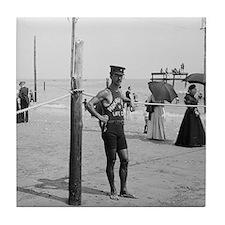 Brighton Beach Life Guard Tile Coaster