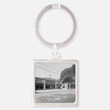 Early Chevrolet Dealership Square Keychain