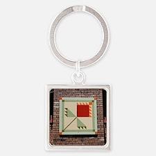 Tulip Quilt Tile Square Keychain