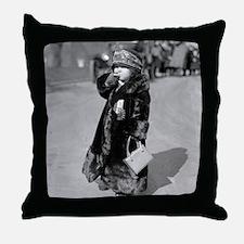 Midget Flapper Girl Throw Pillow