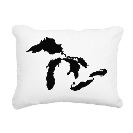 Great_Lakes_Blk_15.35_x_ Rectangular Canvas Pillow