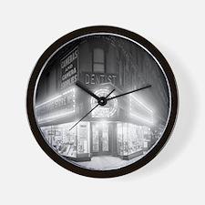 Corner Store At Night Wall Clock