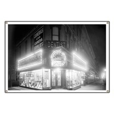 Corner Store At Night Banner