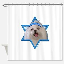 Hanukkah Star of David - Maltese Shower Curtain