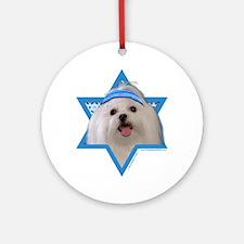 Hanukkah Star of David - Maltese Ornament (Round)