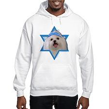 Hanukkah Star of David - Maltese Hoodie