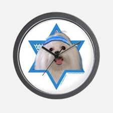 Hanukkah Star of David - Maltese Wall Clock