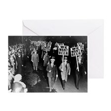 We Want Beer! Prohibition Protest, 1 Greeting Card