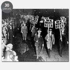 We Want Beer! Prohibition Protest, 1931 Puzzle