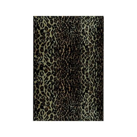 leopard print Rectangle Magnet (10 pack)