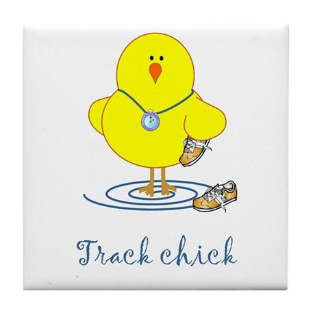 Track Chicks Tile Coaster