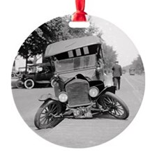 Crashed Ford Model T Ornament