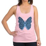 Butterfly Prostate Cancer Racerback Tank Top