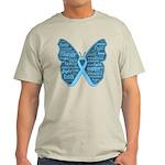 Butterfly Prostate Cancer Light T-Shirt