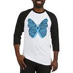 Butterfly Prostate Cancer Baseball Jersey