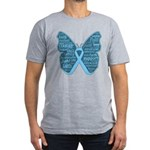 Butterfly Prostate Cancer Men's Fitted T-Shirt (da