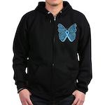Butterfly Prostate Cancer Zip Hoodie (dark)