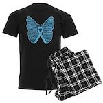 Butterfly Prostate Cancer Men's Dark Pajamas