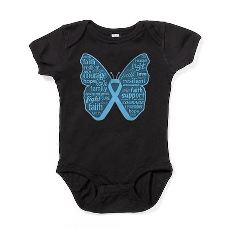 Butterfly Prostate Cancer Baby Bodysuit