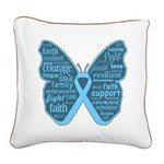 Butterfly Prostate Cancer Square Canvas Pillow
