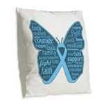Butterfly Prostate Cancer Burlap Throw Pillow