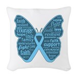 Butterfly Prostate Cancer Woven Throw Pillow
