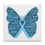 Butterfly Prostate Cancer Tile Coaster