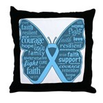 Butterfly Prostate Cancer Throw Pillow
