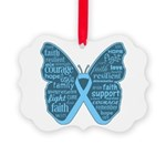 Butterfly Prostate Cancer Picture Ornament