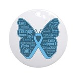 Butterfly Prostate Cancer Ornament (Round)