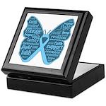 Butterfly Prostate Cancer Keepsake Box