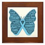 Butterfly Prostate Cancer Framed Tile