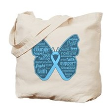 Butterfly Prostate Cancer Tote Bag
