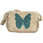 Butterfly Prostate Cancer Messenger Bag