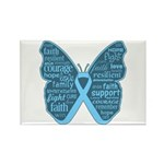 Butterfly Prostate Cancer Rectangle Magnet (100 pa