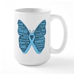 Butterfly Prostate Cancer Large Mug
