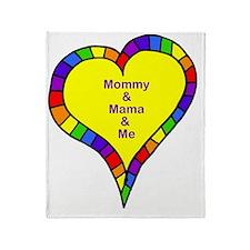mom and mama and me Throw Blanket