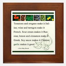 Garlic Framed Tile