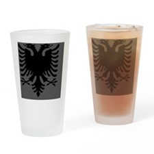 Albanian Eagle Gray and Black Mouse Drinking Glass