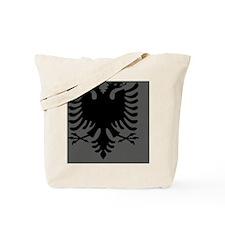 Albanian Eagle Gray and Black Mousepad Tote Bag