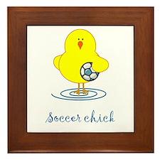Soccer Chicks Framed Tile