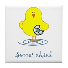 Soccer Chicks Tile Coaster