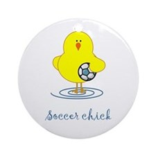 Soccer Chicks Ornament (Round)