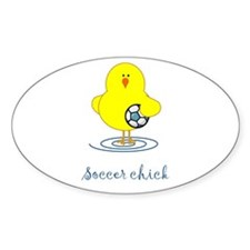 Soccer Chicks Oval Decal