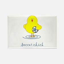 Soccer Chicks Rectangle Magnet