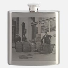 Bootleg Liquor Raid Flask