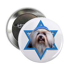 "Hanukkah Star of David - Lowchen 2.25"" Button (10"