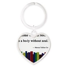 books Heart Keychain