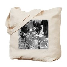 Police Destroying Gun Stash Tote Bag